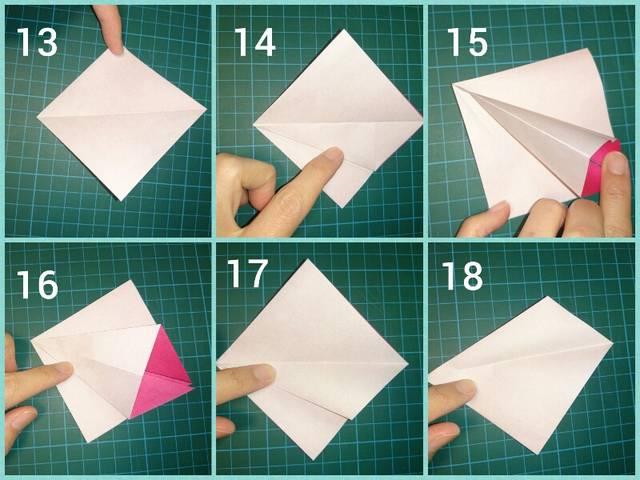 朝顔 折り紙 簡単 子ども